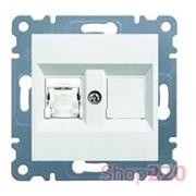 Розетка телефонная RJ-12, белый, Lumina-2 WL2320 Hager