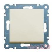 Кнопка, кремовый, Lumina-2 WL0111 Hager