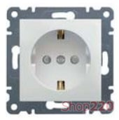 Розетка с заземлением и защитными шторками, белый, Lumina-2 WL1060 Hager