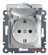 Розетка с заземлением и крышкой, белый, Lumina-2 WL1150 Hager