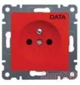 Розетка с центральным заземляющим контактом, красный, Lumina-2 WL1029 Hager