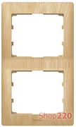 Рамка 2 поста, клен, вертикальная 771966 Legrand
