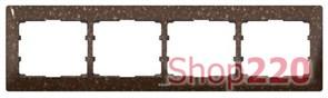 Рамка 4 поста, темное какао, 771704 Legrand