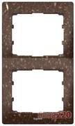 Рамка 2 поста, темное какао, вертикальная, 771706 Legrand