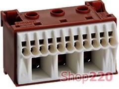 Блок фазных клемм, ширина - 60мм, KN14P Hager