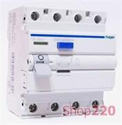 Диференційний вимикач 40 А, 30 мА, тип А, 4 полюса, CD440J Hager