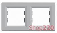 Рамка 2 поста, алюминий, EPH5800261 Asfora Schneider