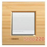 Рамка прямоугольная, 1 пост, цвет Бамбук