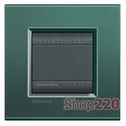 Рамка прямоугольная, 1 пост, цвет Зеленый шелк