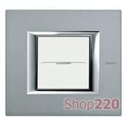 Рамка прямоугольной формы, анодированные, цвет темное серебро, HA4802AZ