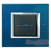 Рамка прямоугольная, лакированная, цвет сапфир, HA4802BM