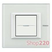 Рамка прямоугольной формы, White, цвет белое стекло, HA4802VBB