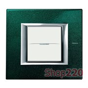 Рамка прямоугольная, лакированная, цвет малахит, HA4802VS