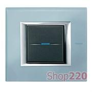 Рамка прямоугольная, стекло, цвет голубое стекло, HA4802VZS