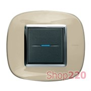 Рамка в форме эллипса, прозрачная, цвет бежевая карамель, HB4802DA
