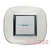 Рамка в форме эллипса, прозрачная, цвет белая карамель, HB4802DB