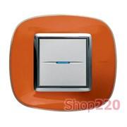Рамка форма эллипс, прозрачная, цвет апельсиновая карамель, HB4802DR