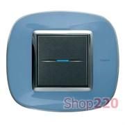 Рамка в форме эллипса, прозрачная, цвет голубая карамель, HB4802DZ