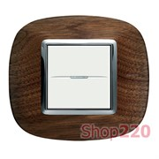 Рамка форма эллипс, дерево, цвет орех, HB4802LNC