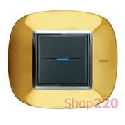 Рамка в форме эллипса, глянцевая, цвет золото, HB4802OR