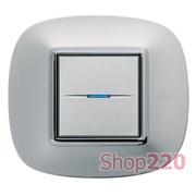 Рамка в форме эллипса, глянцевая, цвет матовое серебро, HB4802SAN