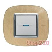 Рамка форма эллипс, кожа, цвет кожа песок, HB4802SLC