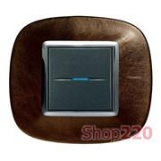 Рамка форма эллипс, кожа, цвет кожа кофе, HB4802SLS