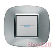 Рамка форма эллипс, металлизированная, цвет зеркальный алюминий, HB4802XC