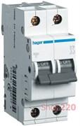 Автоматический выключатель 2 А, 2 полюса, С, 6 kA MC202A Hager