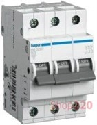 Автоматический выключатель 0,5 А, 3 полюса, С, 6 kA MC300A Hager