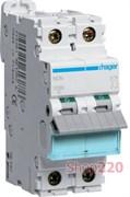 Автоматический выключатель 20 А, 2 полюса, С, 10 kA NCN220 Hager