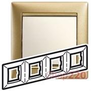 Рамка 4 поста, матовое золото, 770304 Legrand Valena