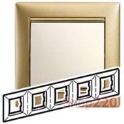 Рамка 5 постов, матовое золото, 770305 Legrand Valena
