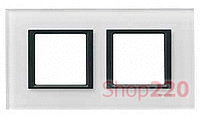 Рамка Unica class 2-П, белое стекло MGU68.004.7C2 Schneider Unica