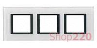 Рамка Unica class 3-П, белое стекло MGU68.006.7C2 Schneider Unica