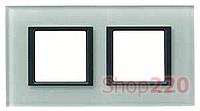 Рамка Unica class 2-П, матовое стекло MGU68.004.7C3 Schneider Unica
