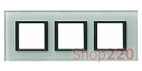 Рамка Unica class 3-П, матовое стекло MGU68.006.7C3 Schneider Unica