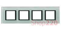 Рамка Unica class 4-П, матовое стекло MGU68.008.7C3 Schneider Unica