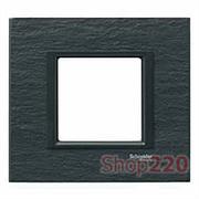 Рамка Unica class 1-П, черный камень MGU68.002.7Z1 Schneider Unica