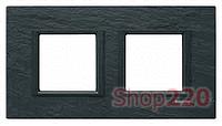 Рамка Unica class 2-П, черный камень MGU68.004.7Z1 Schneider Unica