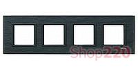 Рамка Unica class 4-П, черный камень MGU68.008.7Z1 Schneider Unica