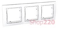 Рамка 3-на, белый, MGU4.006.18 Schneider Unica