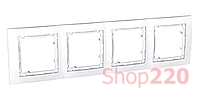 Рамка 4-на, белый, MGU4.008.18 Schneider Unica