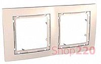 Рамка 2-на, слоновая кость, MGU4.004.25 Schneider Unica