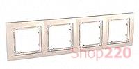 Рамка 4-на, слоновая кость, MGU4.008.25 Schneider Unica