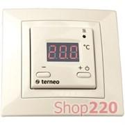 Терморегулятор для теплого пола terneo st, слоновая кость