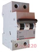 Автоматический выключатель 10А, 2 полюса, тип С, 419695 Legrand RX3