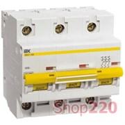 Автоматический выключатель 80А 3 полюса, характеристика C, ВА47-100 ИЭК