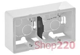 Коробка для накладного монтажа 2 поста, белый, Valena 754192 Legrand