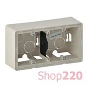 Коробка для накладного монтажа 2 поста, слоновая кость, Valena 754202 Legrand